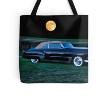 1948 Cadillac Series 62 Convertible 'Smooch'n in the Moonlight' Tote Bag
