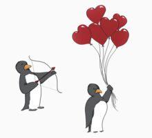 Penguin Valentine by Clarabird