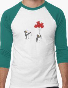Penguin Valentine Men's Baseball ¾ T-Shirt