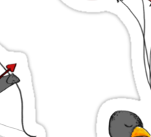 Penguin Valentine Sticker