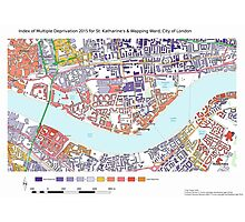 Multiple Deprivation St Katharine's & Wapping ward, City of London Photographic Print