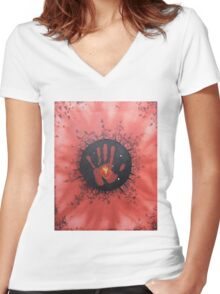 Precious Blood Women's Fitted V-Neck T-Shirt