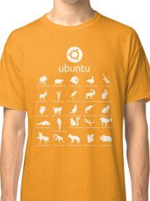 ubuntu linux releases pets black ed. Classic T-Shirt