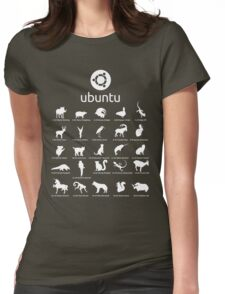 ubuntu linux releases pets black ed. Womens Fitted T-Shirt