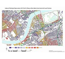Multiple Deprivation St Mary's Park ward, Hammersmith & Fulham Photographic Print