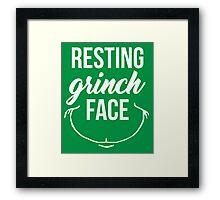 Resting Grinch Face Framed Print