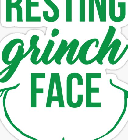 Resting Grinch Face Sticker