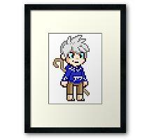 Stay Frosty - Jack Frost Pixel Framed Print