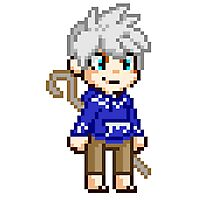 Stay Frosty - Jack Frost Pixel Photographic Print