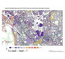Multiple Deprivation St Pancras & Somers Town ward, Camden Photographic Print