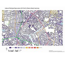 Multiple Deprivation St Peter's ward, Hackney Photographic Print