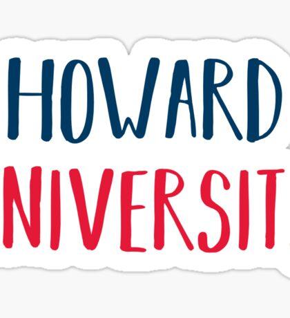 Howard University Sticker