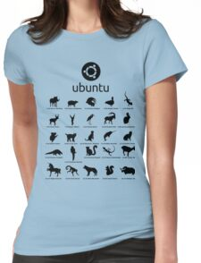 ubuntu linux releases pets fan art Womens Fitted T-Shirt