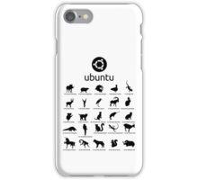 ubuntu linux releases pets fan art iPhone Case/Skin
