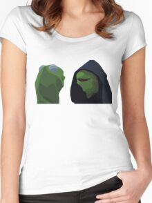 Evil Kermit Meme Women's Fitted Scoop T-Shirt
