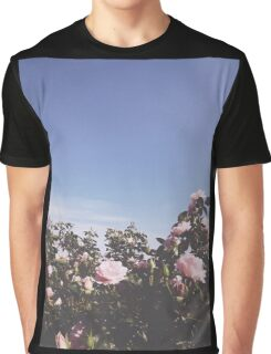 Pink Roses Sky Graphic T-Shirt