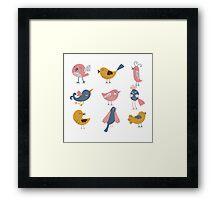 Cute Birds For Kids Framed Print
