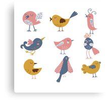 Cute Birds For Kids Canvas Print