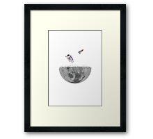The Moon Shredder Framed Print