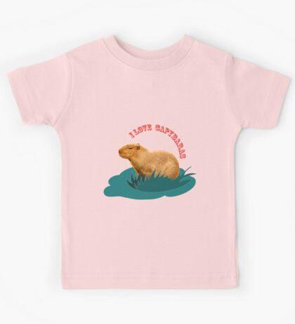 I love capybaras Kids Tee