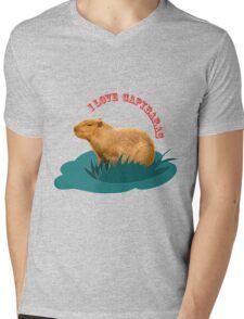 I love capybaras Mens V-Neck T-Shirt