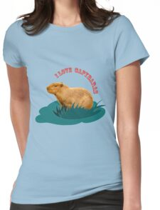 I love capybaras Womens Fitted T-Shirt