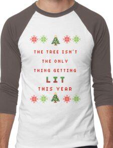 Christmas Tree - get lit Men's Baseball ¾ T-Shirt