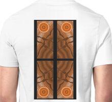 A illustration on aboriginal style of dot painting depicting ways 2 Unisex T-Shirt
