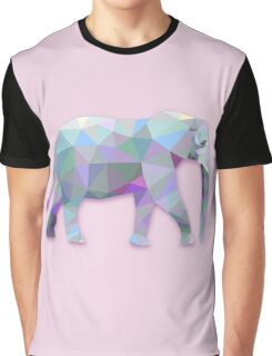 Triangle Elephant Design Graphic T-Shirt