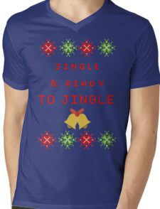 Single and Ready to Mingle (JINGLE) Mens V-Neck T-Shirt