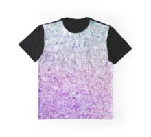 Frozen, close up photograph of snow Graphic T-Shirt