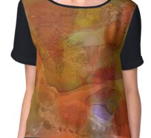 Power | Alcohol Ink Abstract Chiffon Top