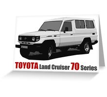 Toyota Land Cruiser 70 Series Troopy Greeting Card