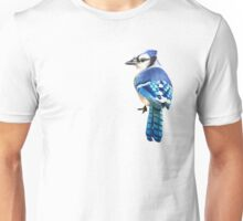 Blue Jay in Tropical background Unisex T-Shirt