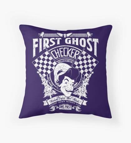 First Ghost Cab Co Throw Pillow