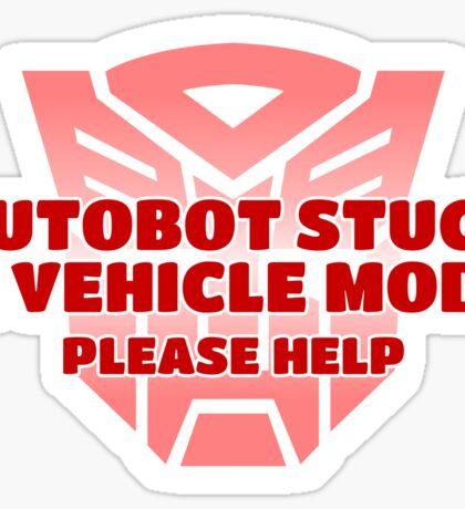 Stuck in Vehicle Mode Sticker