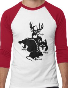 moony wormtail padfoot and prongs Men's Baseball ¾ T-Shirt
