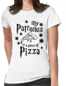 My Patronus is a piece of pizza Womens Fitted T-Shirt