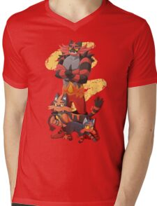 Litten Evolutions Mens V-Neck T-Shirt