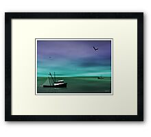 When I Look to the West Framed Print