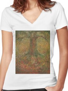 Invisible Tree Women's Fitted V-Neck T-Shirt