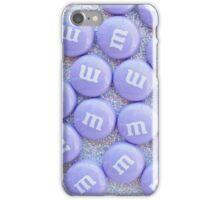 Purple Glittery M&Ms iPhone Case/Skin