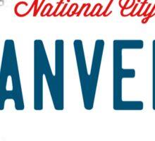 Sanvers License Plate Sticker
