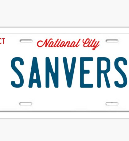 Sanvers License Plate Sticker
