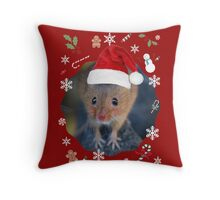 Happy Christmouse Throw Pillow