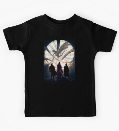 Benedict Cumberbatch 4 iconic characters by lichtblickpink Kids Tee