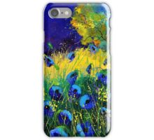 Blue poppies 7741 iPhone Case/Skin