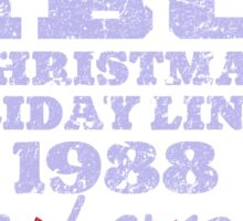 IBC Christmas Line Up Sticker