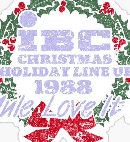 IBC Christmas Line Up Sticker
