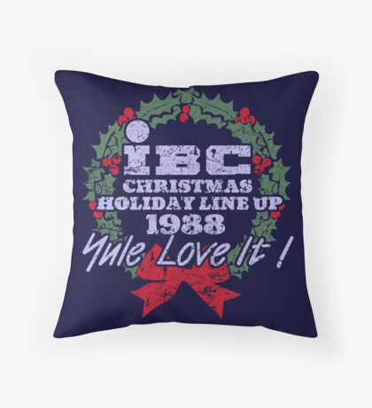 IBC Christmas Line Up Throw Pillow